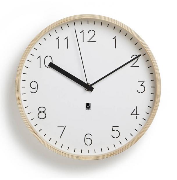 Часы Настенные Umbra Rimwood Белые