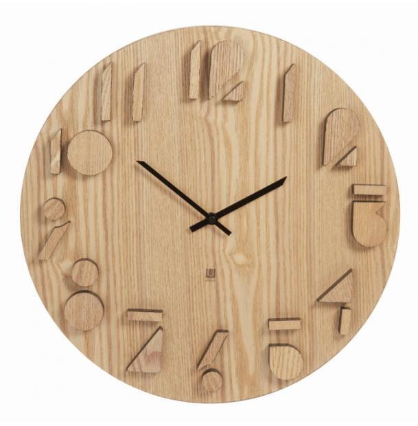 Часы Настенные Umbra Shadow Натуральное Дерево