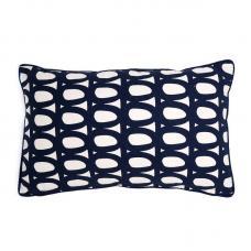 Чехол для подушки Tkano с принтом Twirl и декоративной окантовкой темно-синий Cuts&Pieces 30х50