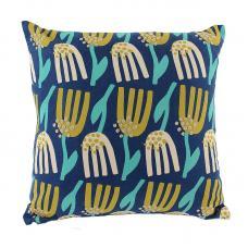 Чехол для подушки Tkano темно-синий с графичным принтом Lazy Flower Cuts&Pieces 45х45