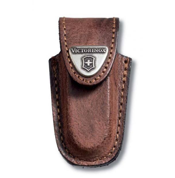 Чехол на ремень VICTORINOX для ножей-брелоков 58 мм, кожаный, коричневый