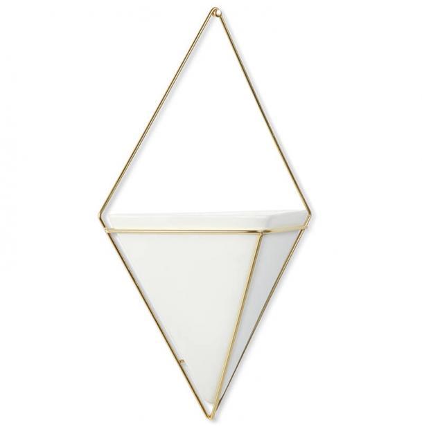 Декор Для Стен Umbra Trigg Большой Белый-Латунь