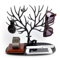 Декоративный органайзер для украшений Qualy Deer малый черный