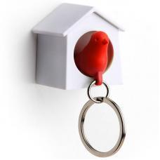 Держатель брелок для ключей Qualy Mini Sparrow красный