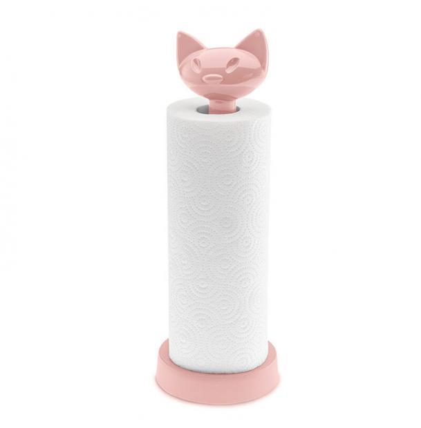 Держатель для бумажных полотенец Koziol MIAOU розовый