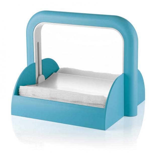 Держатель для бумажных салфеток Guzzini Forme Casa голубой