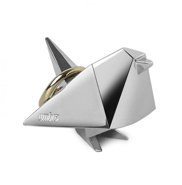 Держатель Для Колец Umbra Origami Птица Хром