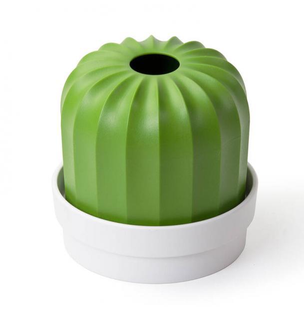 Держатель для салфеток Qualy Cactiss, белый с зеленым