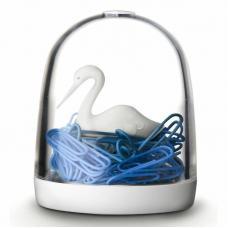 Держатель для скрепок Qualy Swan In The POnd