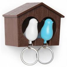 Держатель для ключей Sparrow белый/голубой QL10124-BN-WH-BU