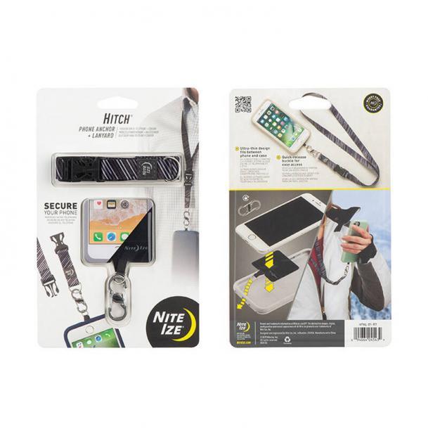 Держатель для телефона Nite Ize Hitch Phone Anchor + Lanyard Black HPAL-01-R7
