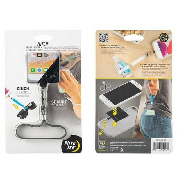 Держатель для телефона Nite Ize Hitch Phone Anchor Stretch Strap - серый HPSS-09-R7