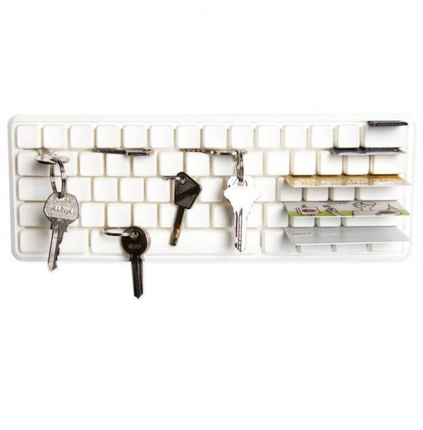 Держатель ключей и мелких предметов Qualy Key Board белый