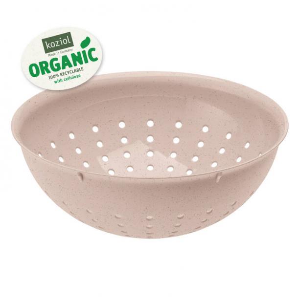 Дуршлаг Koziol Palsby M organic 2 л розовый