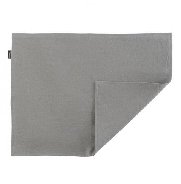 Двухсторонняя салфетка под приборы Tkano из умягченного льна серая Essential 35х45