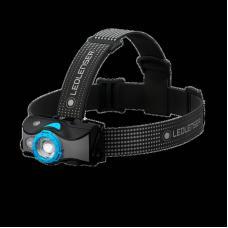 Фонарь светодиодный налобный LED Lenser MH7, черно-голубой