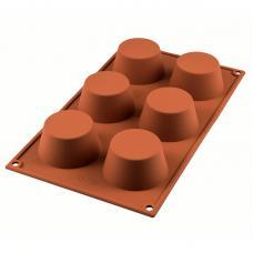Форма для приготовления маффинов Muffin 18х33,5 см силиконовая Silikomart 20.023.00.0065
