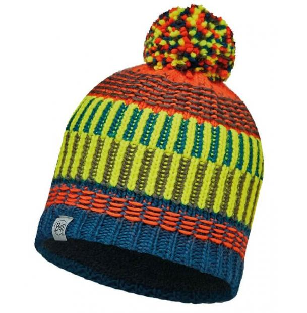 Шапка Buff Junior Knitted & Polar Hat Hops Seaport Blue