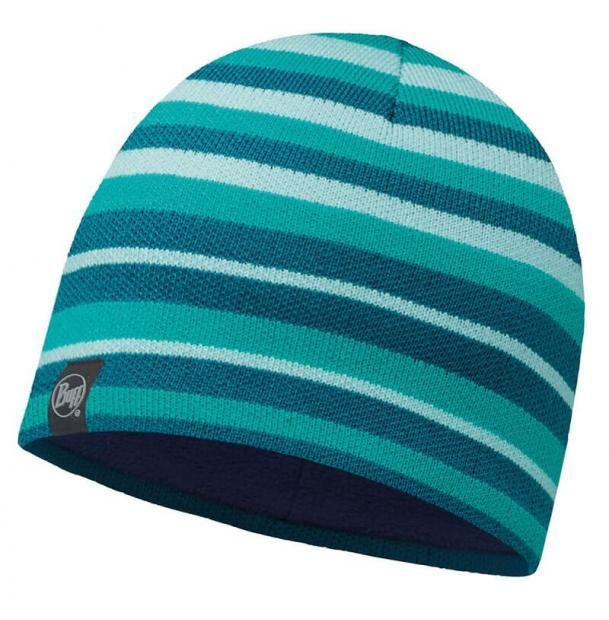 Шапка Buff Knitted & Polar Hat Lakistripes Turquoise