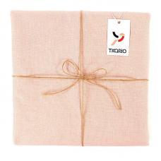 Скатерть на стол Tkano из Умягченного Льна с Декоративной Обработкой Dusty Rose