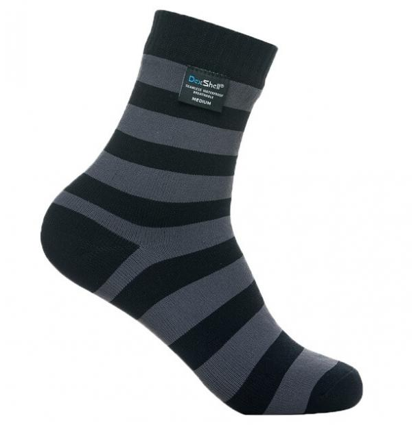 Носки водонепроницаемые Dexshell Waterproof Ultralite Bamboo Socks Grey Stripe XL