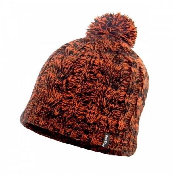 Шапка водонепроницаемая Dexshell Waterproof Beanie Orange Cable Pompom DH342TR