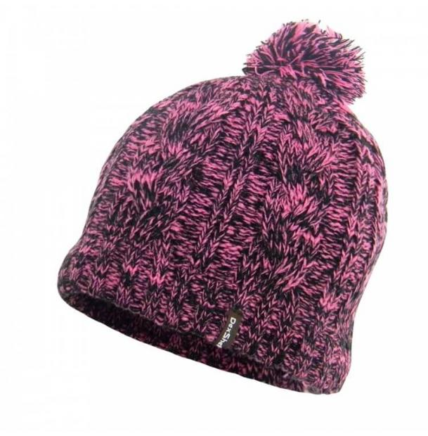 Шапка водонепроницаемая Dexshell Waterproof Beanie Pink Cable Pompom