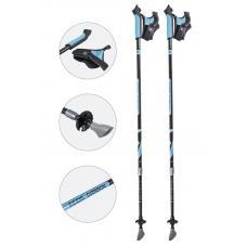 Карбоновые телескопические палки для скандинавской ходьбы Ecos AQD-B018С Blue