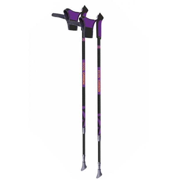 Карбоновые палки для скандинавской ходьбы телескопические Ecos AQD-B019B