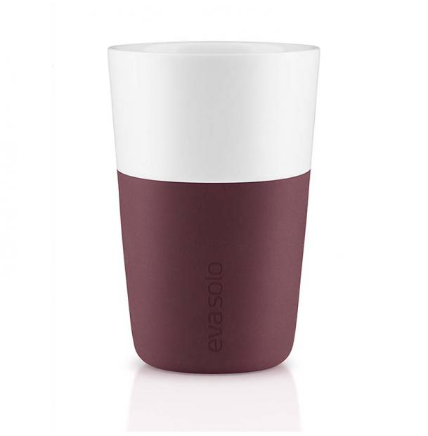 Набор из двух чашек Eva Solo Cafe Latte Tumbler Dark Burgundy