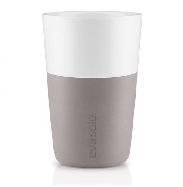Набор из двух чашек Eva Solo Cafe Latte Tumbler Purple Grey