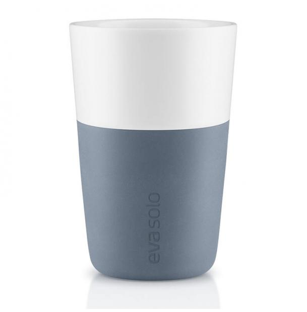 Набор из двух чашек Eva Solo Cafe Latte Tumbler Steel Blue