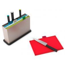 Набор разделочных досок с ножами Joseph Joseph Index with Knives Silver