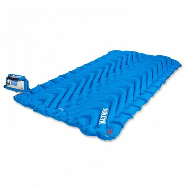 Коврик туристический надувной Klymit Double V Blue