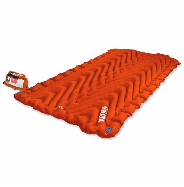 Коврик туристический надувной Klymit Insulated Double V Orange