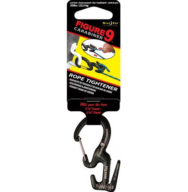 Крепление для веревки c карабином Nite Ize Figure 9 Carabiner Small Black