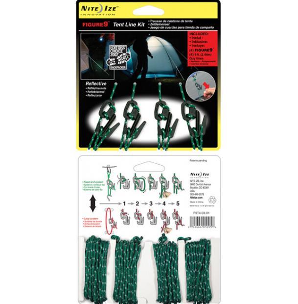 Набор креплений для веревки Nite Ize Figure 9 Tent Line Kit + Rope