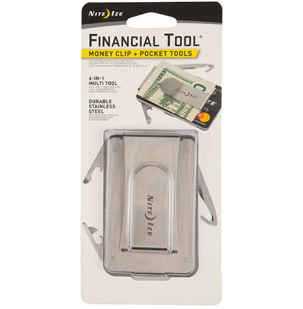 Мультитул Nite Ize Financial Tool Money Clip+Pocket Tools Stainless