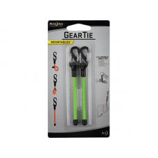 "Карабин с хомутом Nite Ize Gear Tie Clippable Twist Tie 3"" Lime"