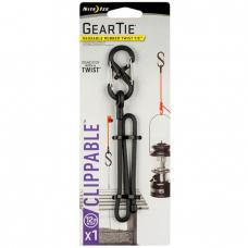 "Карабин с хомутом Nite Ize Gear Tie Clippable Twist Tie 12"" Black"
