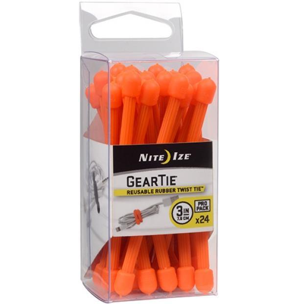 "Набор хомутов Nite Ize Gear Tie ProPack 3"" 24pk Bright Orange"