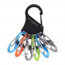 Набор карабинов Nite Ize S-Biner KeyRack Locker Plastic