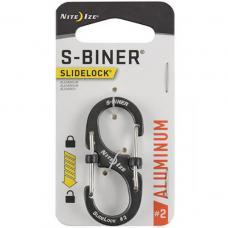 Карабин Nite Ize S-Biner SlideLock Aluminum #2 Grey