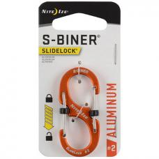 Карабин Nite Ize S-Biner SlideLock Aluminum #2 Orange