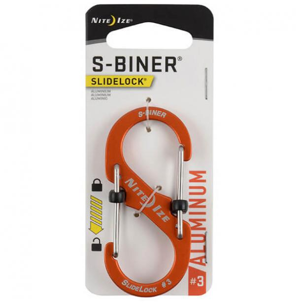 Карабин Nite Ize S-Biner SlideLock Aluminum #3 Orange