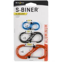 Набор карабинов Nite Ize S-Biner SlideLock Pack #2,3,4.