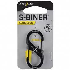 Карабин Nite Ize S-Biner SlideLock #2 Black