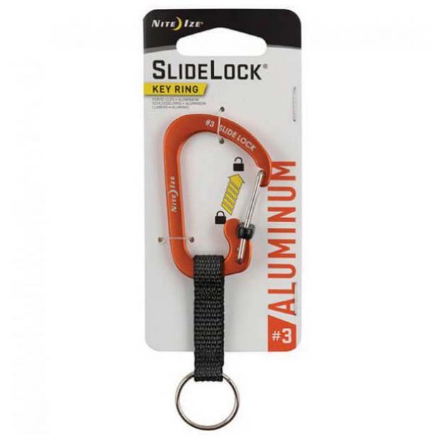 Карабин Nite Ize SlideLock Key Ring #3 Aluminum Orange
