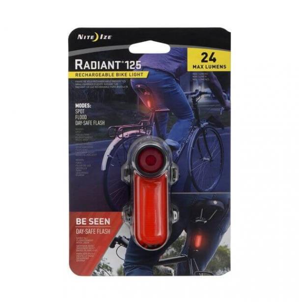 Велосипедный фонарь NiteIze Radiant 125 Rechargeable Bike Light Red