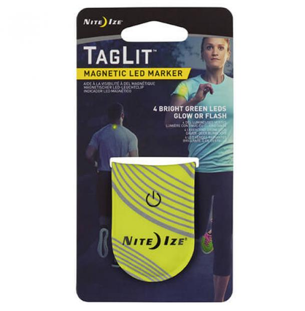 Светодиодный маркер NiteIze TagLit Magnetic LED Marker Neon Yellow